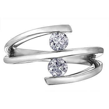 Two stone diamond fashion ring