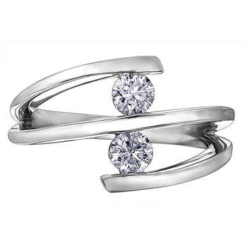 Two stone diamond fashion ring