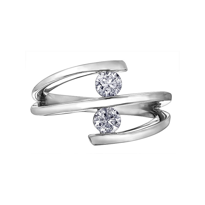 Empress Line Two stone diamond fashion ring