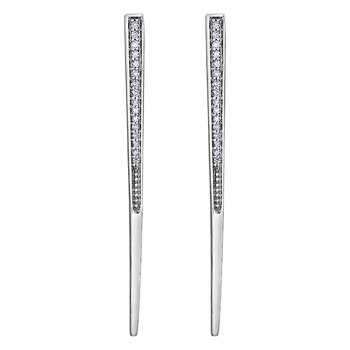 Tapered Bar Diamond Earrings