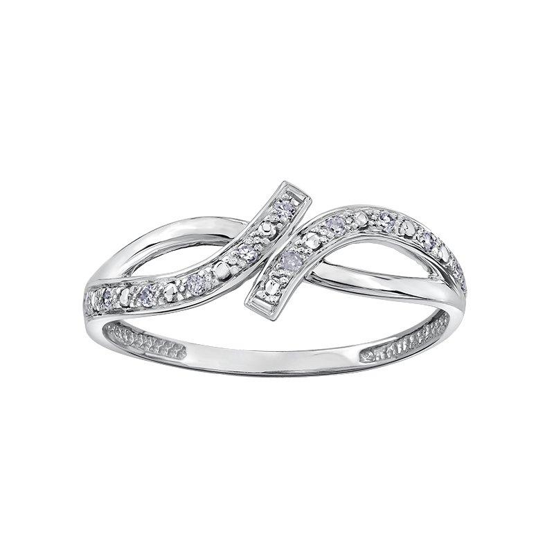 Empress Line 10k White Gold Diamond Ring