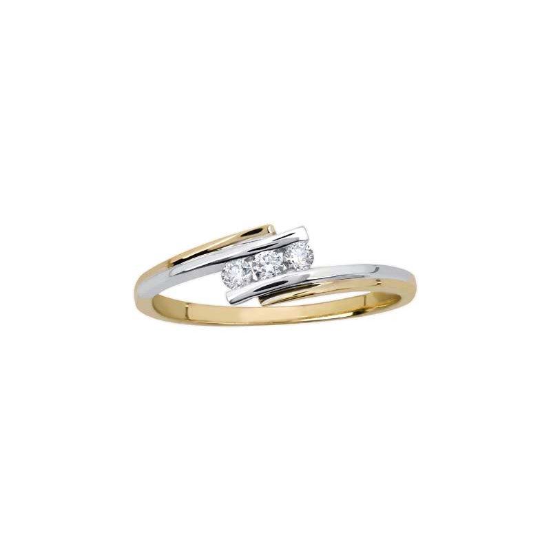 Empress Line Tension Set Diamond Ring