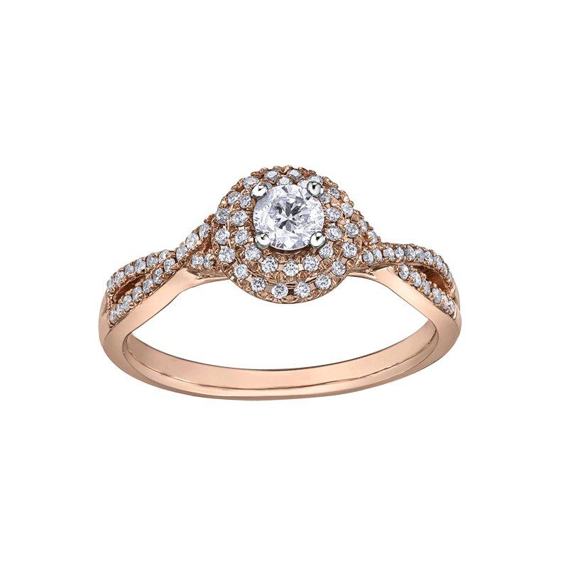 Empress Line Rose Gold Engagement Ring