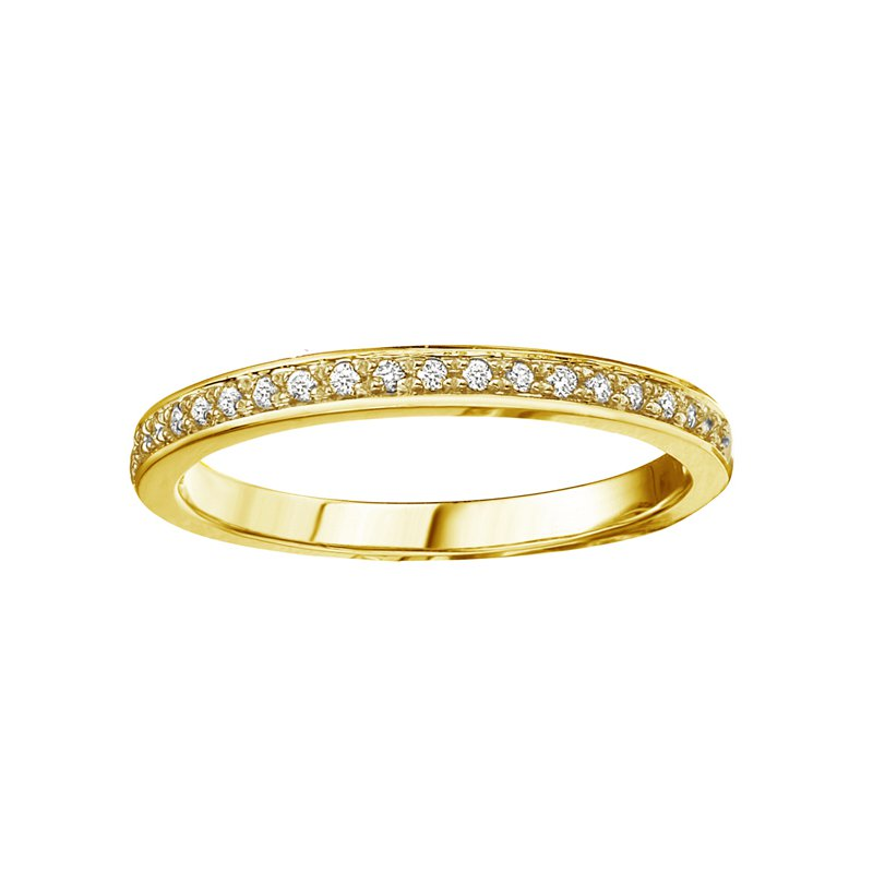 Empress Line 10k Yellow Gold Stackable Band