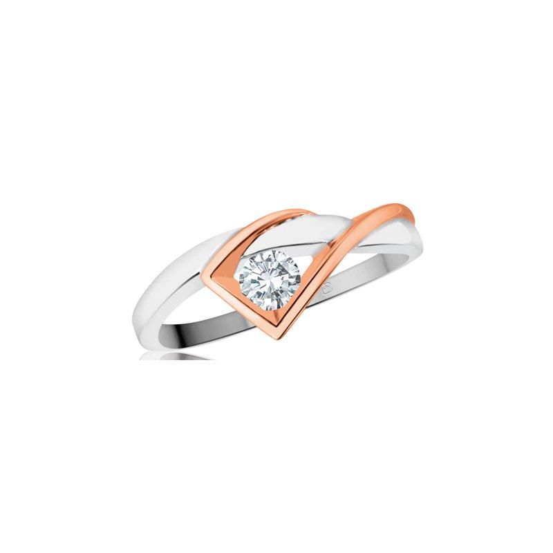 Empress Line Two Tone Diamond Ring