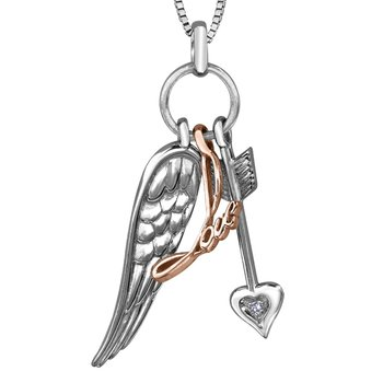 SS with 10k Cupid Love Pendant