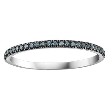 10K White Gold Stackable Band