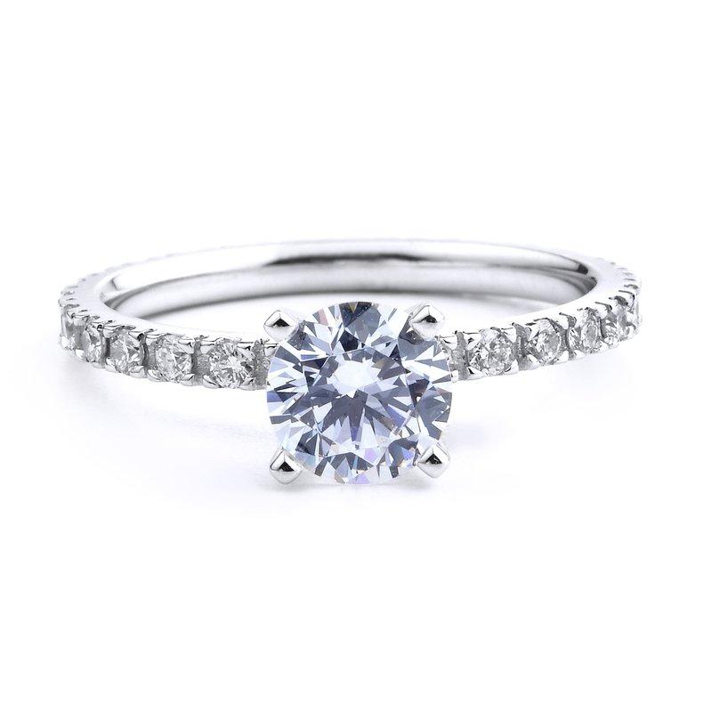 Eternity Engagement Ring in 14K White Gold
