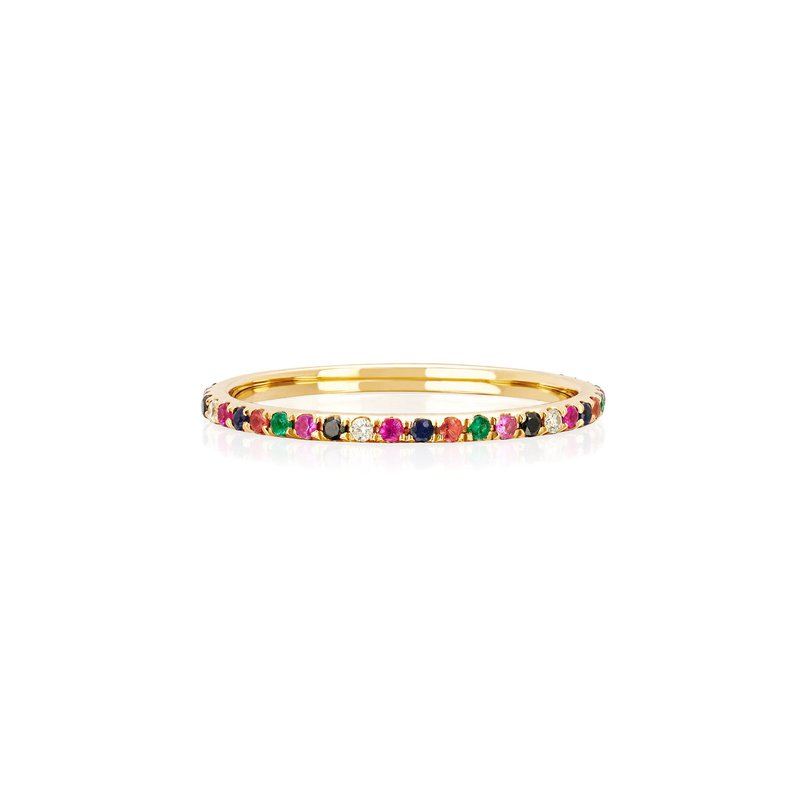 RAINBOW ETERNITY BAND RING