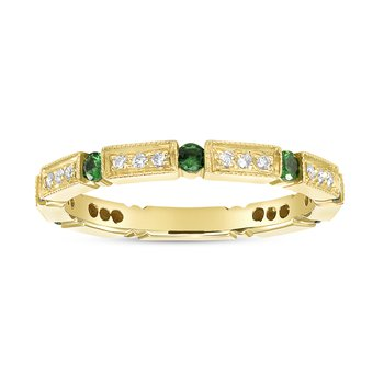 Tsavorite Diamond Band