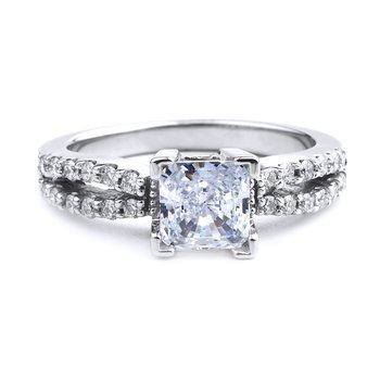 Split Shank Princess Cut Diamond Engagement Ring