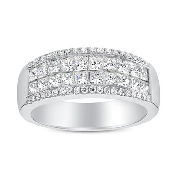 Princess Cut Diamond Invisible Band