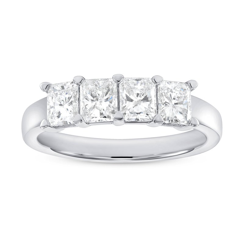 Radiant Cut Diamond Buttercup Band