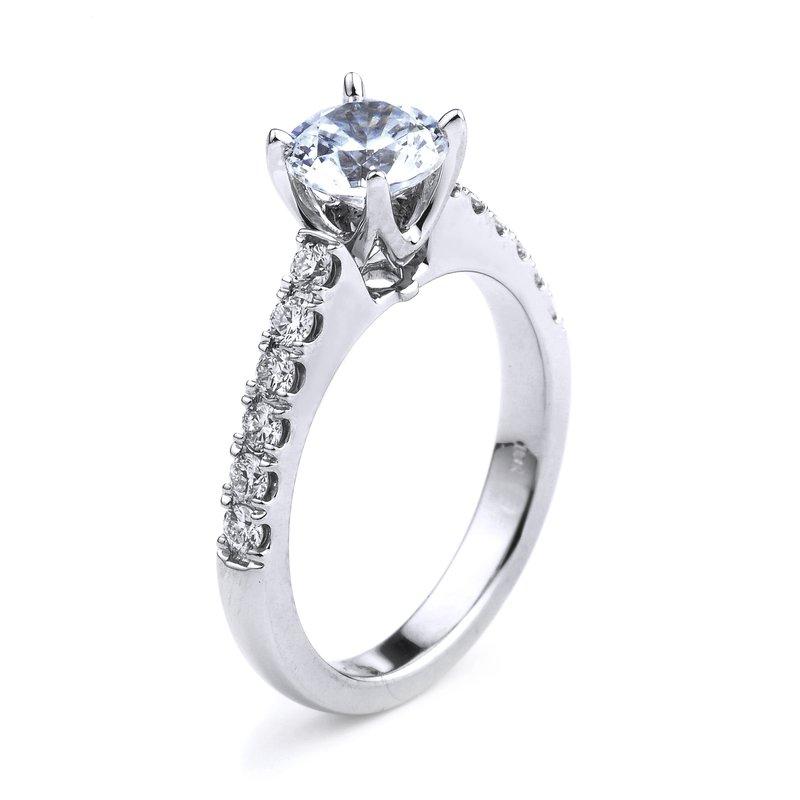 Simple Diamond Engagement Ring