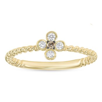 Petite Flower Twist Ring