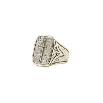 Silver JV Signet Dagger Ring