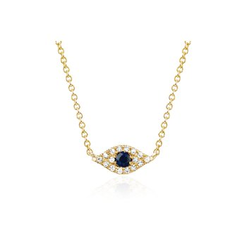 DIAMOND EVIL EYE CHOKER