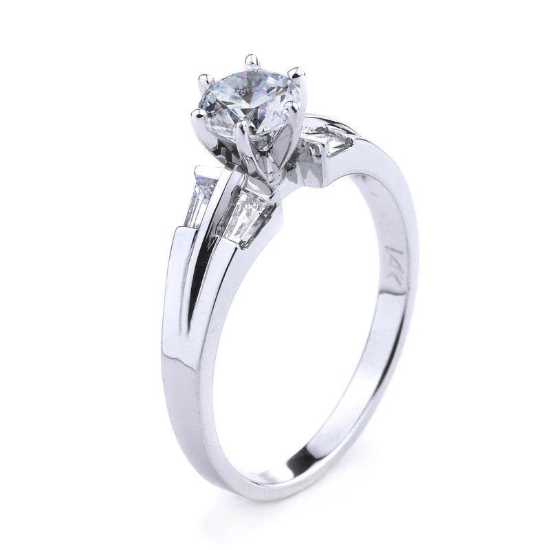 Classic Baguette Diamond Engagement Ring