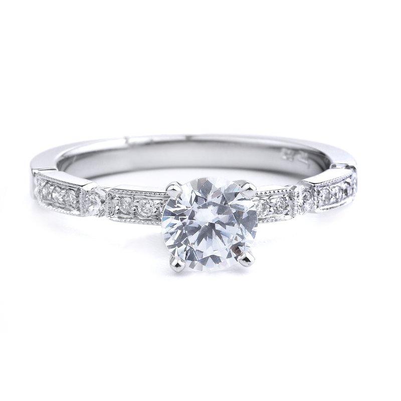 Pavé Diamond Engagement Ring