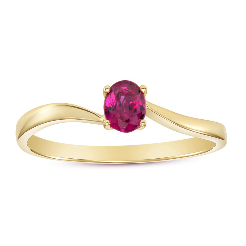 Solitaire Ruby Ring
