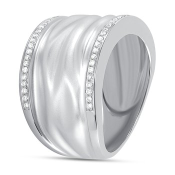 Satin Diamond Band