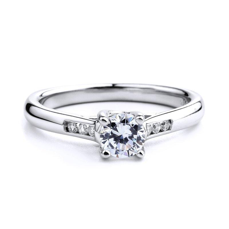 Diamond Engagement Ring in 18K white gold