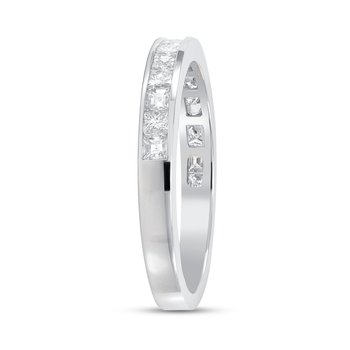 Baguette and Princess Cut Diamond Band