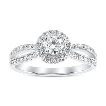 Halo Diamond Engagement Ring