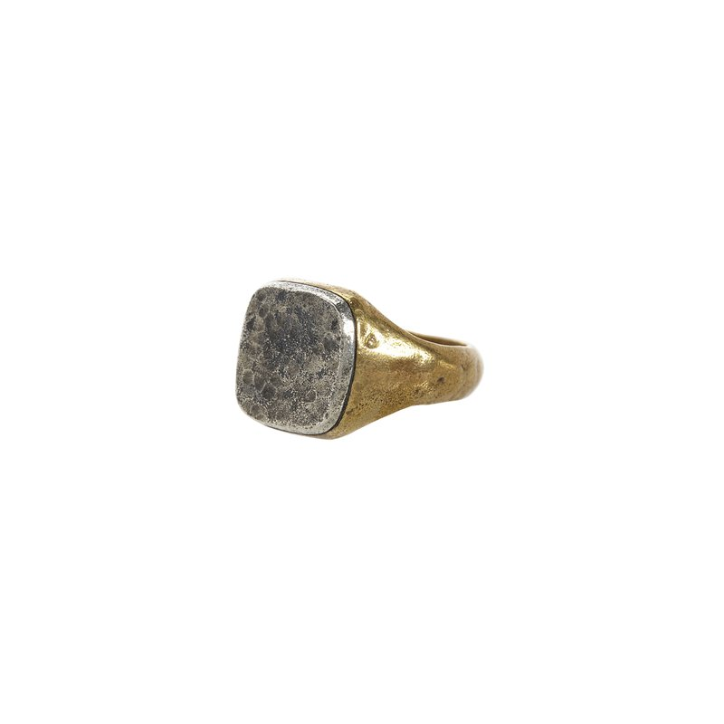 Silver & Brass Signet Ring