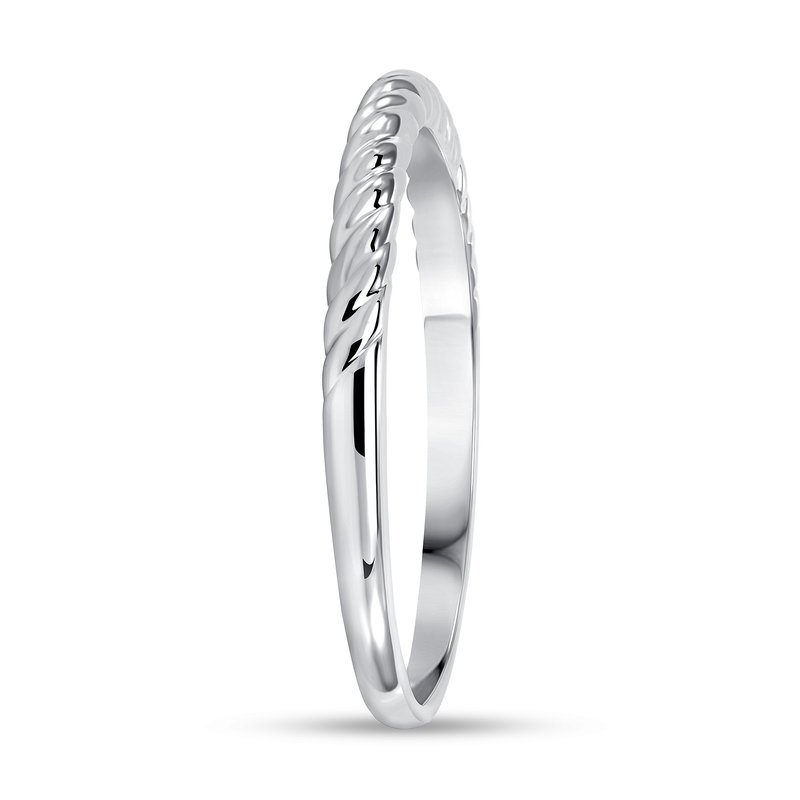 Twisted Solitaire Band