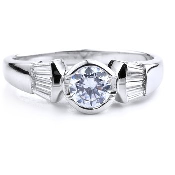 Classic Bezel Set Engagement Ring