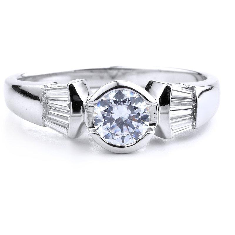 Classic Bezel Set Engagement Ring
