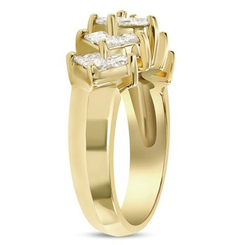 Princess Cut Diamond Band
