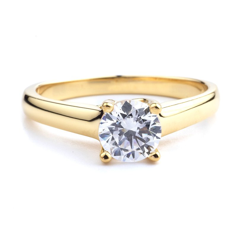 Solitaire Yellow Gold Engagement Ring 18K Yellow Gold