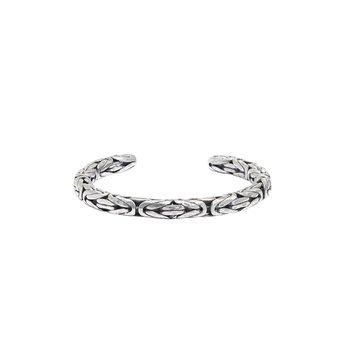 Silver Braided Cuff