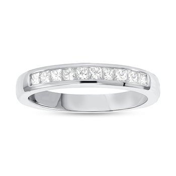 Princess Cut Diamond Channel Set Band