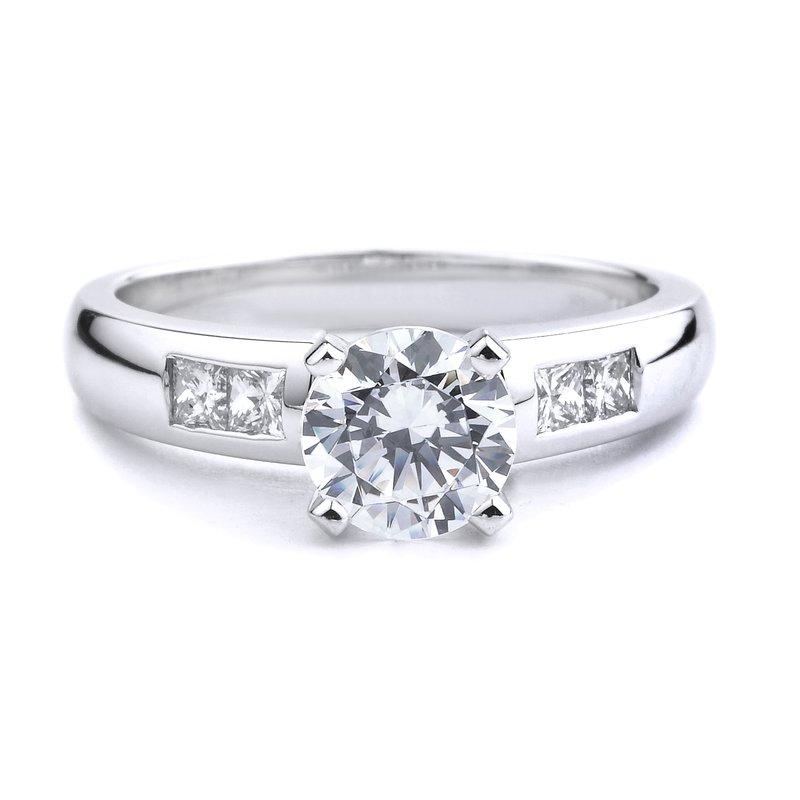 Classic Princess Cut Diamond Engagement Ring