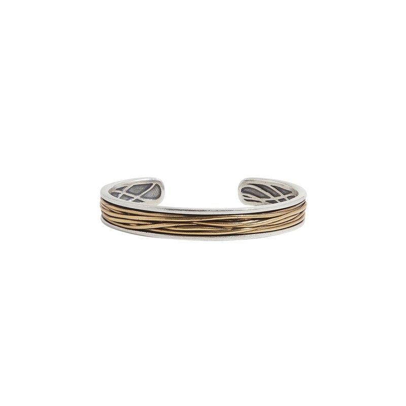 Brass Wire Wrap Sterling Silver Cuff