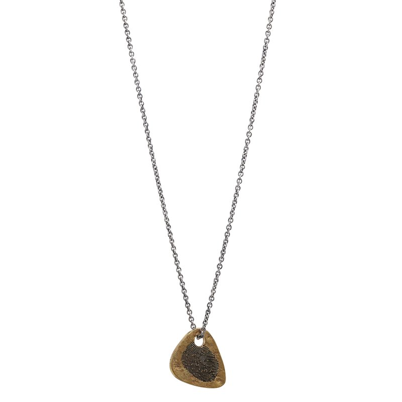 Brass Guitar Pick Necklace