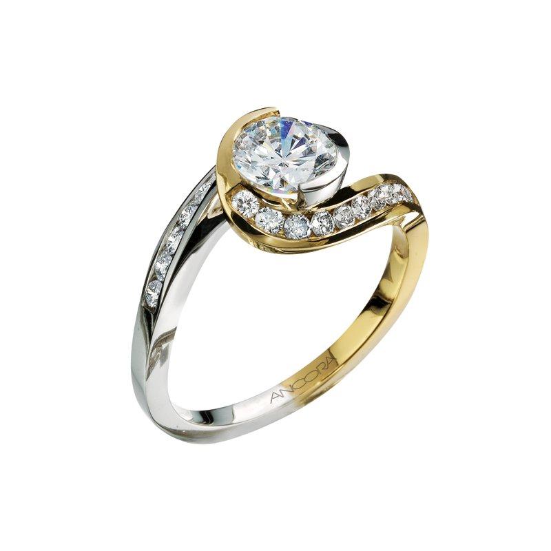 Ancora Diamond Bypass Engagement Ring