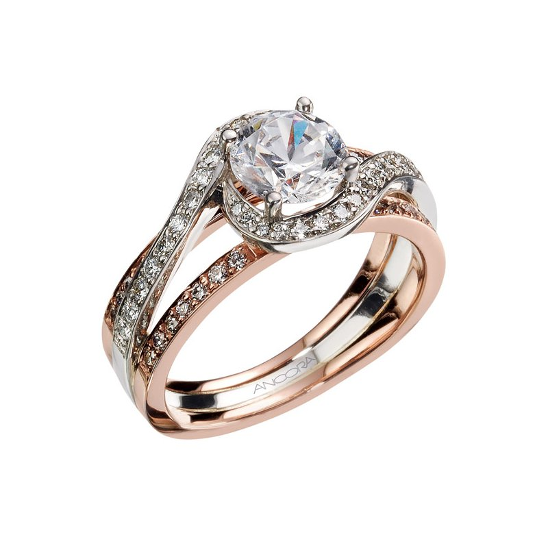 Ancora Diamond Bypass Engagement Ring