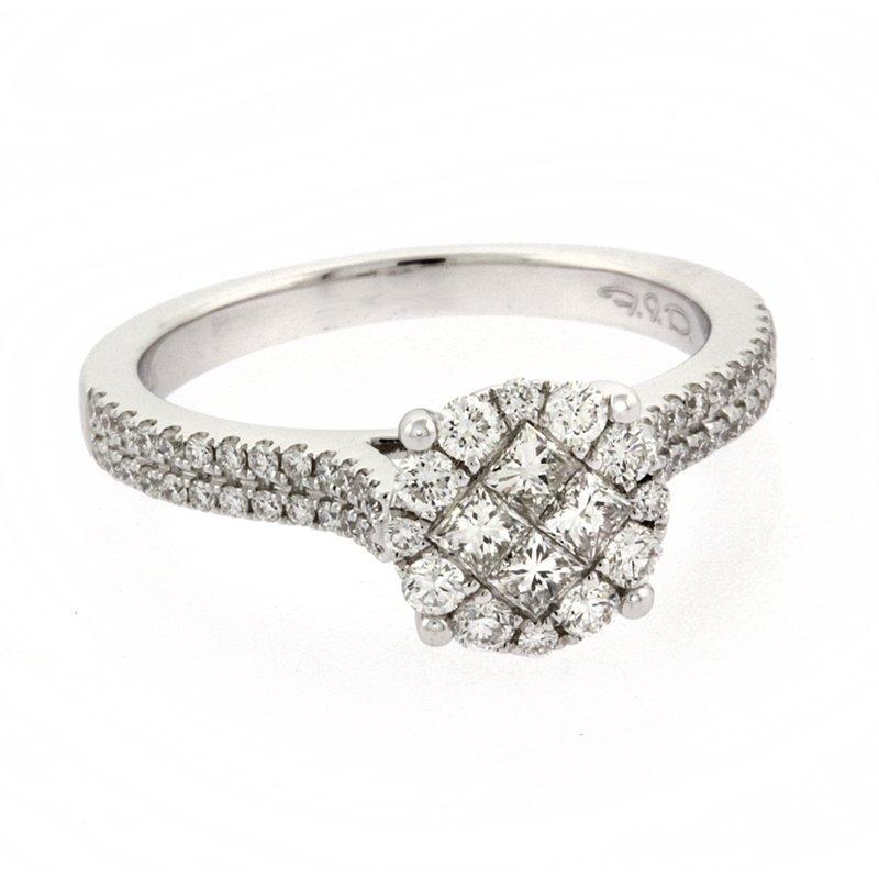 Roman+Jules Diamond cluster ring