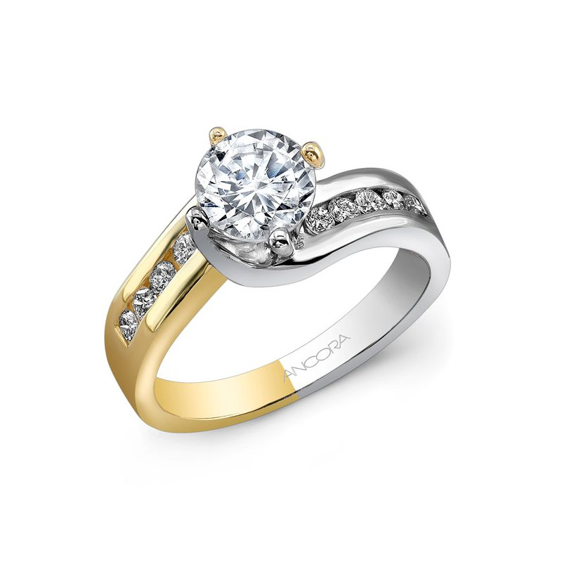 Ancora Diamond Set Bypass Ring