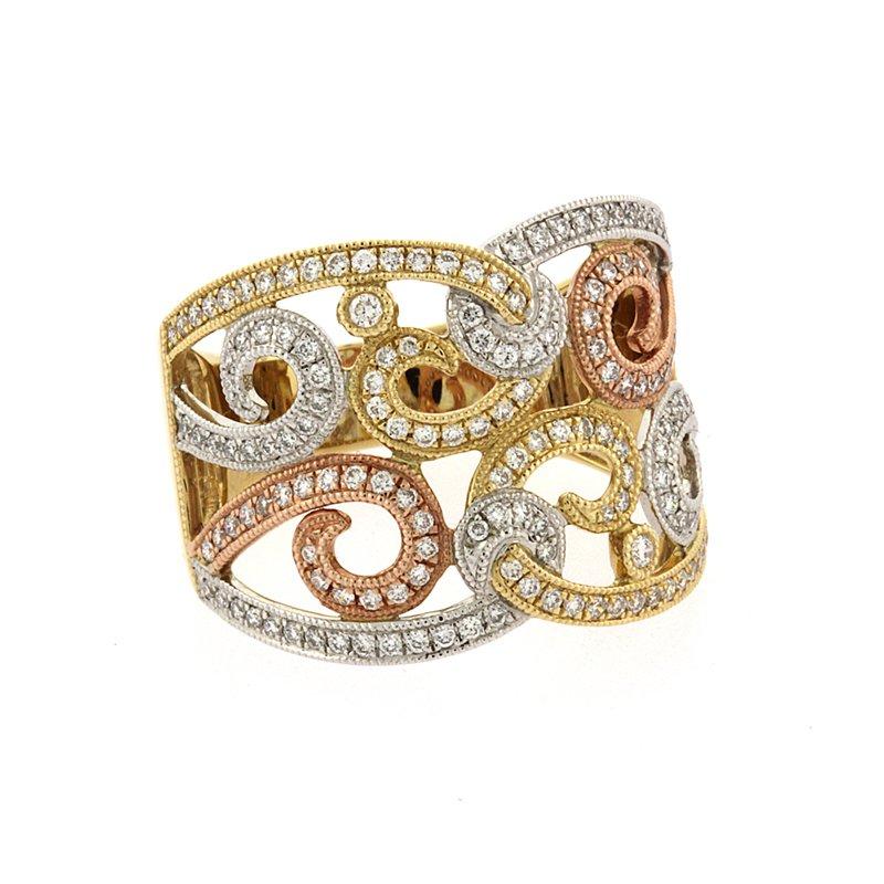 Roman+Jules Swirl diamond fashion ring
