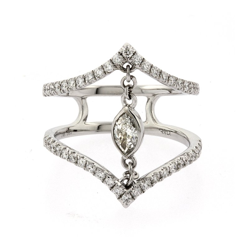 Roman+Jules Fashion floating diamond ring