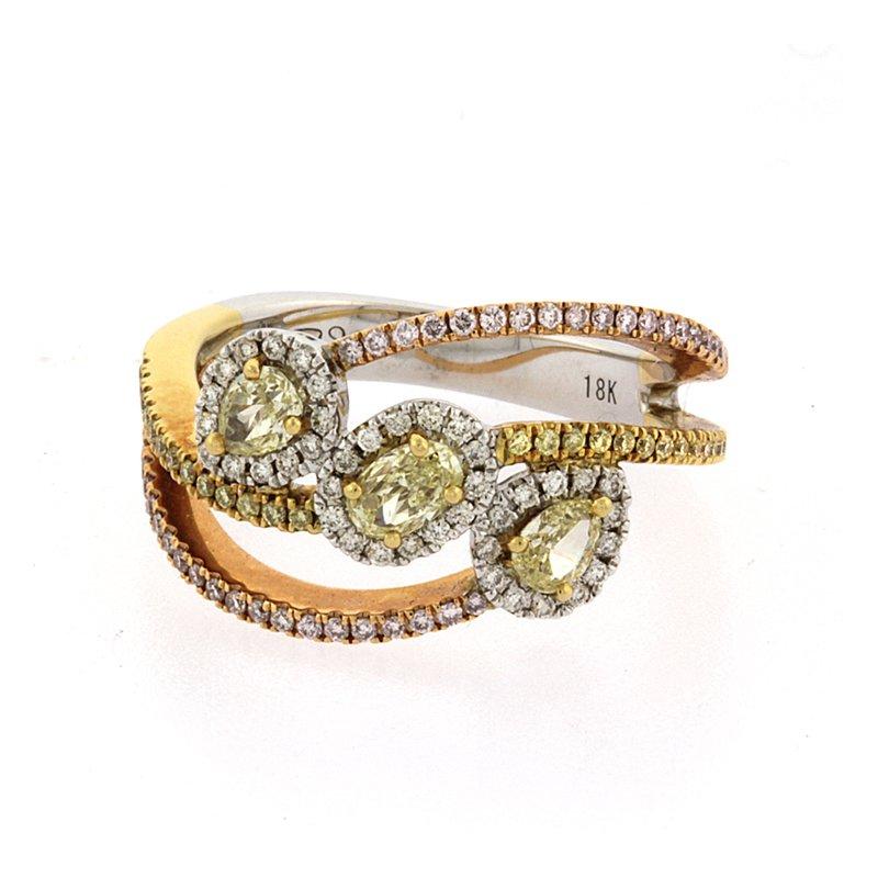 Roman+Jules Fancy yellow diamond fashion ring