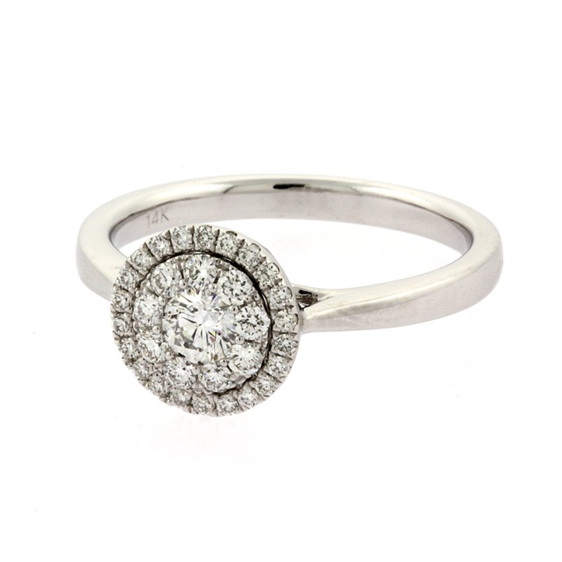 Roman+Jules Halo diamond cluster ring