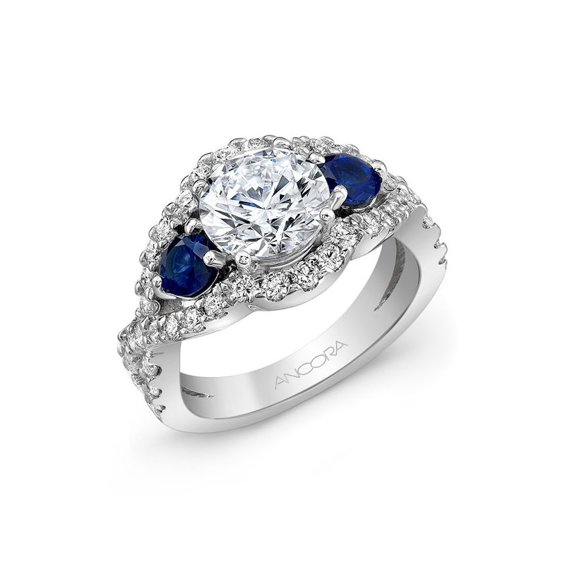Ancora Diamond and Sapphire Semi Mount