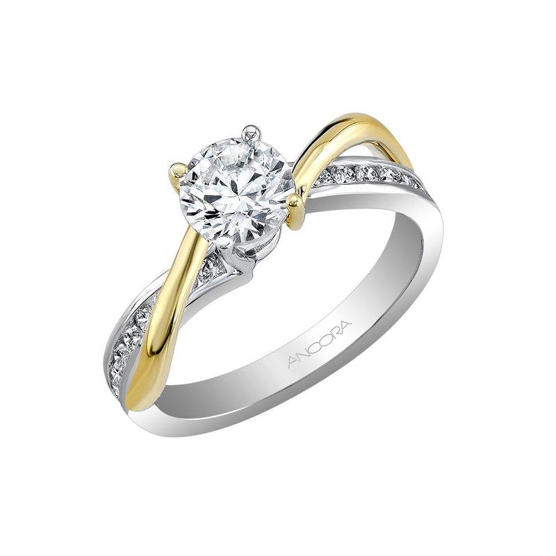 Ancora Contoured Diamond Engagement Ring
