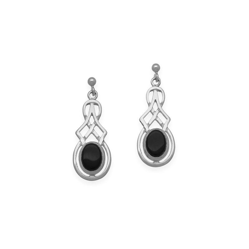Celtic Collection Celtic Gemstone Earring